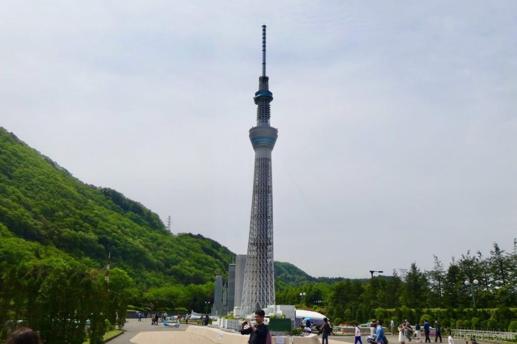 東武ワールドスクウェアの東京スカイツリー
