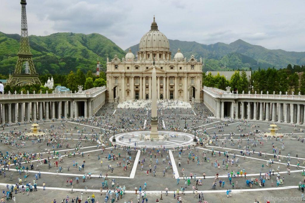東武ワールドスクウェアのサン・ピエトロ大聖堂
