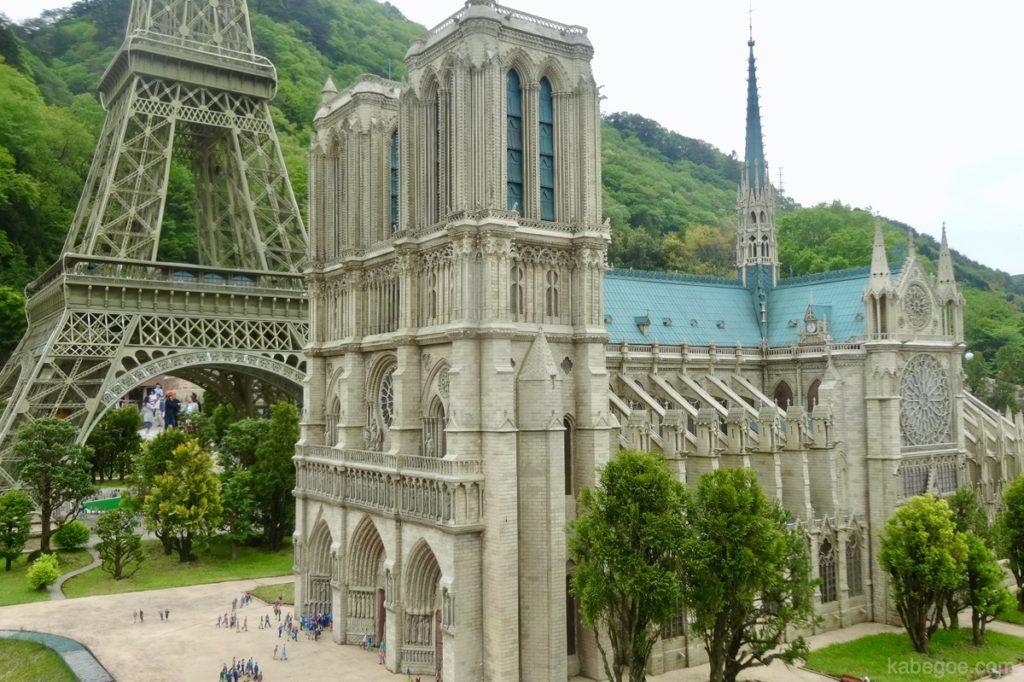 東武ワールドスクウェアのノートルダム大聖堂