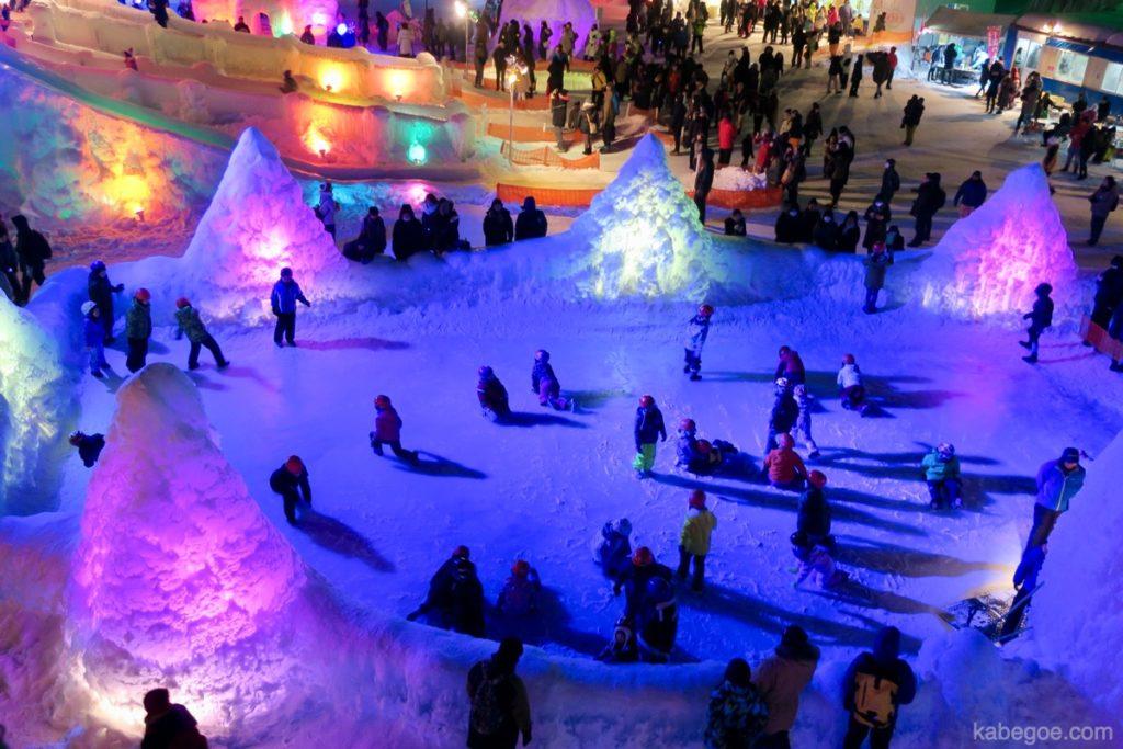 氷濤まつりのスケートリンク