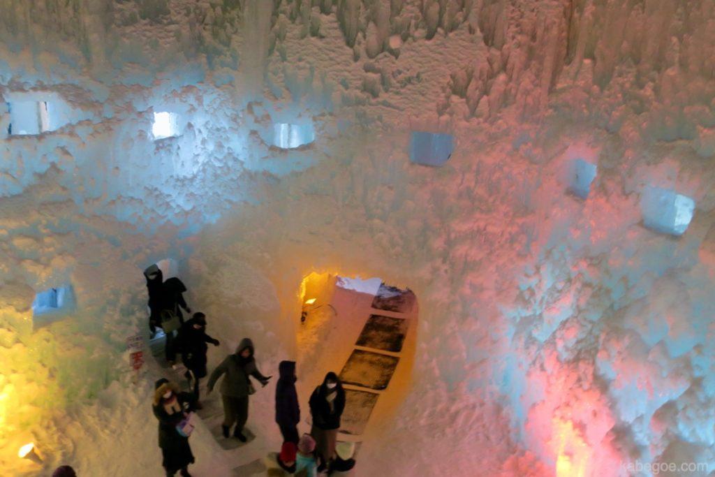 氷濤まつりのオブジェ