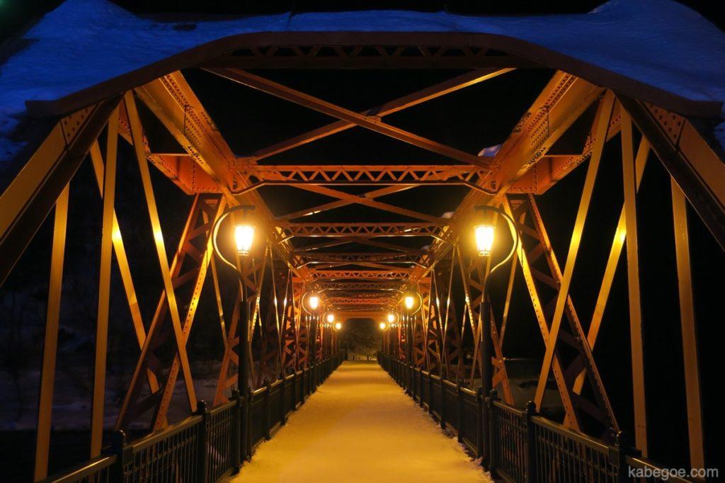 支笏湖の鉄橋