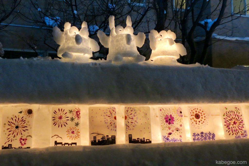 小樽 雪あかりの路の花火