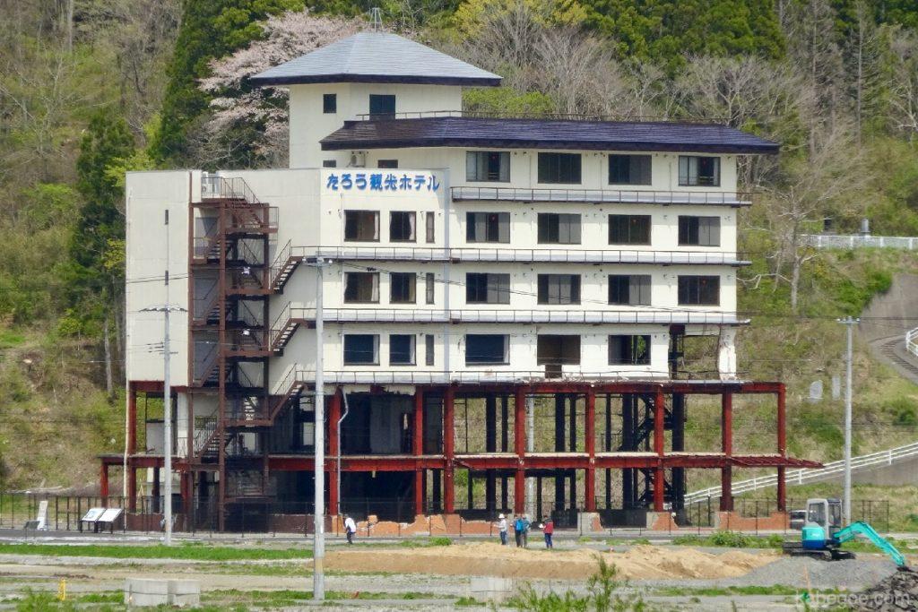 震災遺構 たろう観光ホテル
