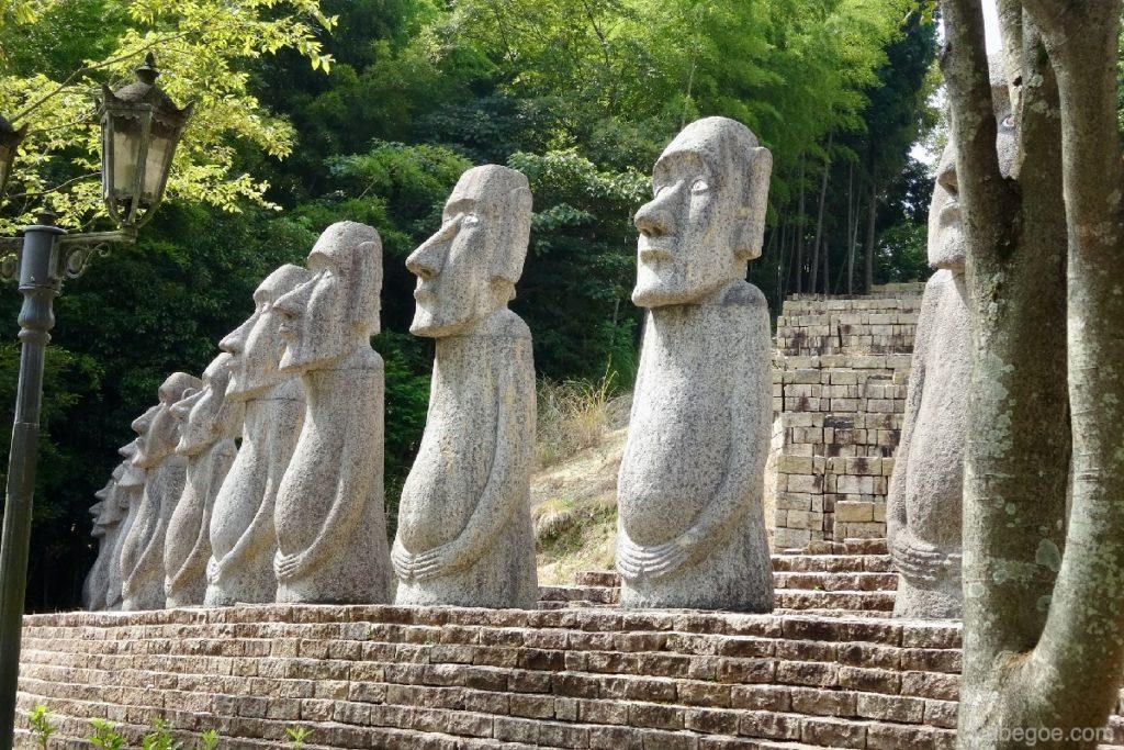 太陽公園のモアイ像