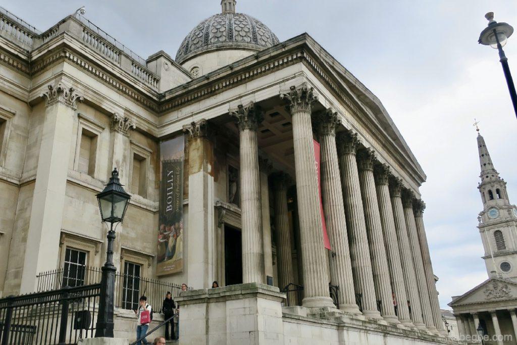 ロンドン・ナショナル・ギャラリーの外観
