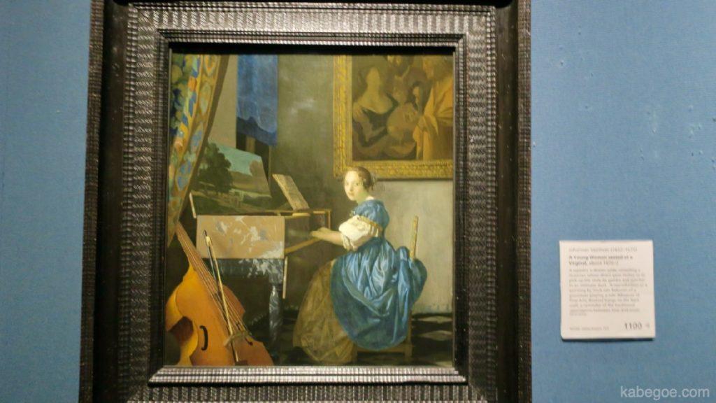 フェルメール「ヴァージナルの前に座る若い女性」