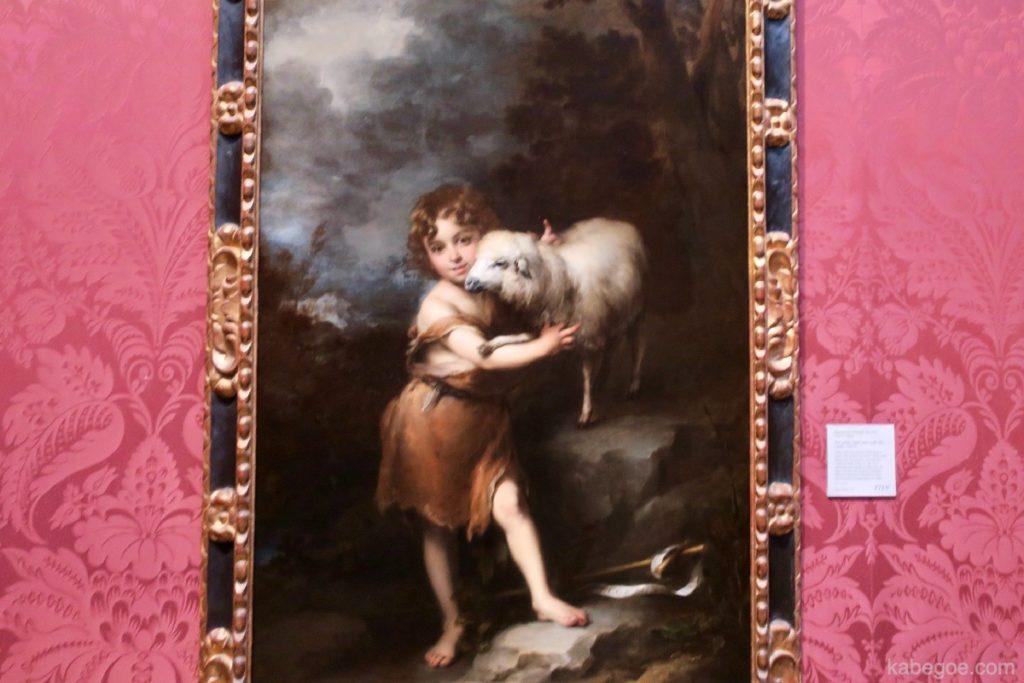 ムリーリョ「幼い洗礼者聖ヨハネと子羊」