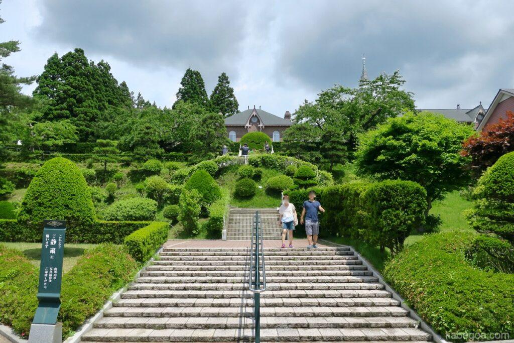 トラピスチヌ修道院の庭