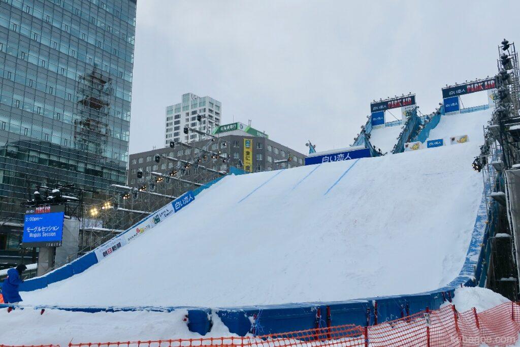 さっぽろ雪まつりのジャンプ台