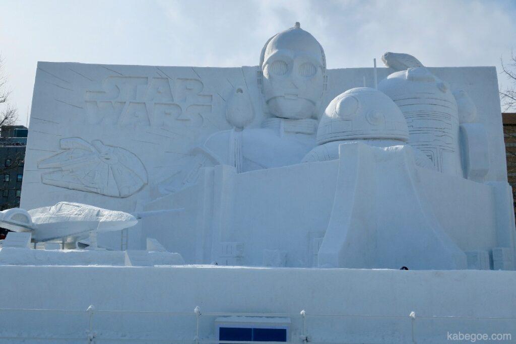 さっぽろ雪まつりのスターウォーズ