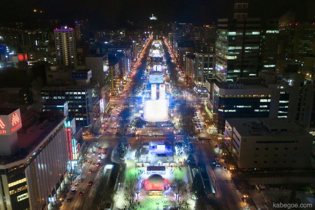 さっぽろテレビ塔からの夜景