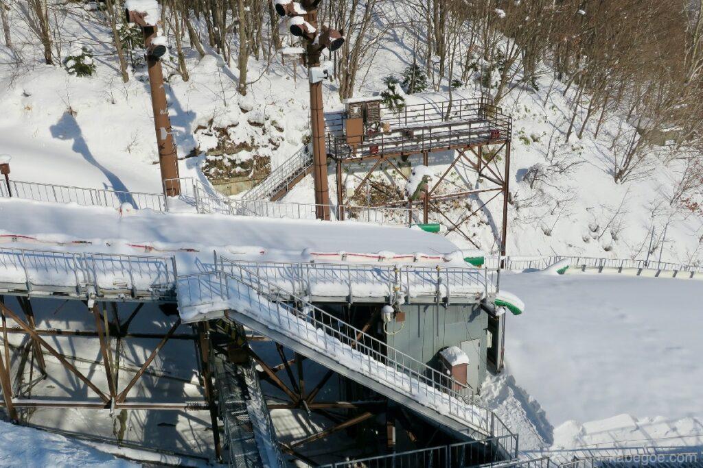 大倉山ジャンプ競技場のジャンプ射出台