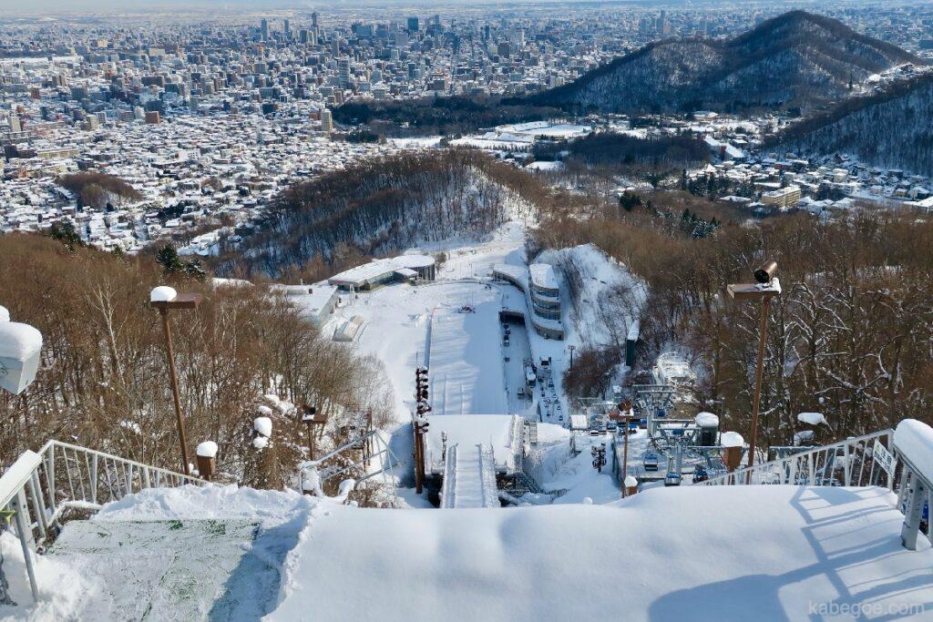 大倉山ジャンプ競技場の展望台からの景色