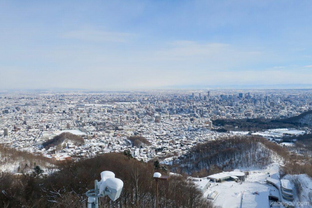 大倉山ジャンプ競技場の展望台からの風景