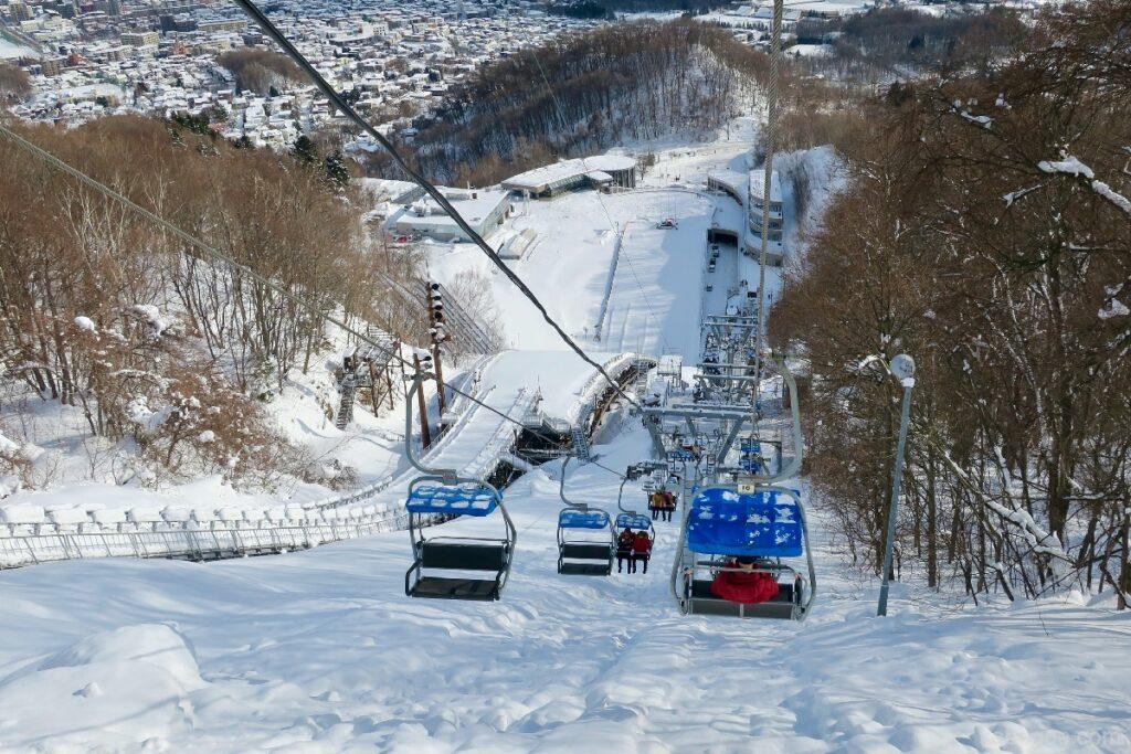 大倉山ジャンプ競技場のリフト