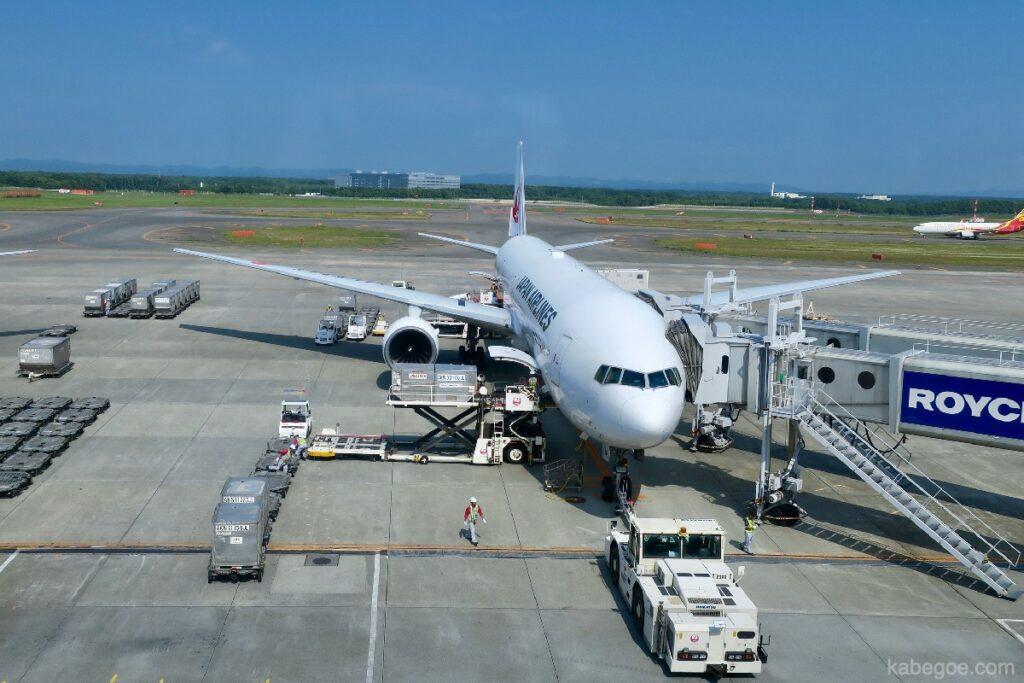 Nuovo aeroplano dell'aeroporto di Chitose
