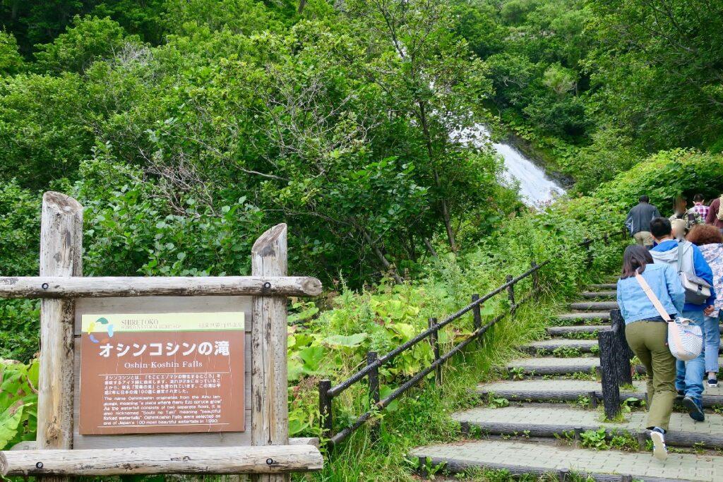 知床のオシンコシンの滝