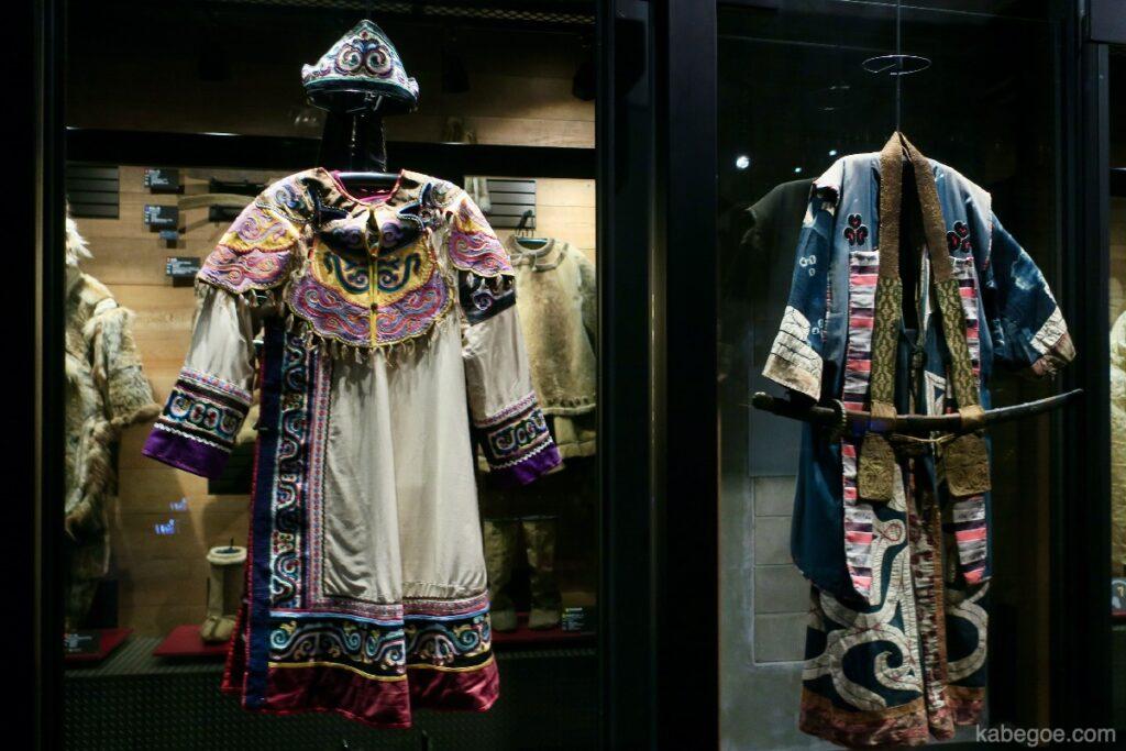 北方民族博物館のアイヌ民族衣装