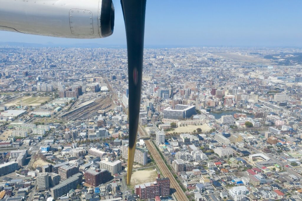 博多の上空からの写真