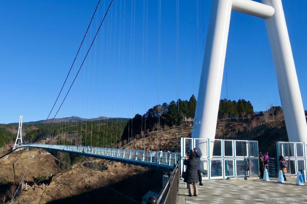 Jembatan gantung Mishima Skywalk terpanjang di Jepang