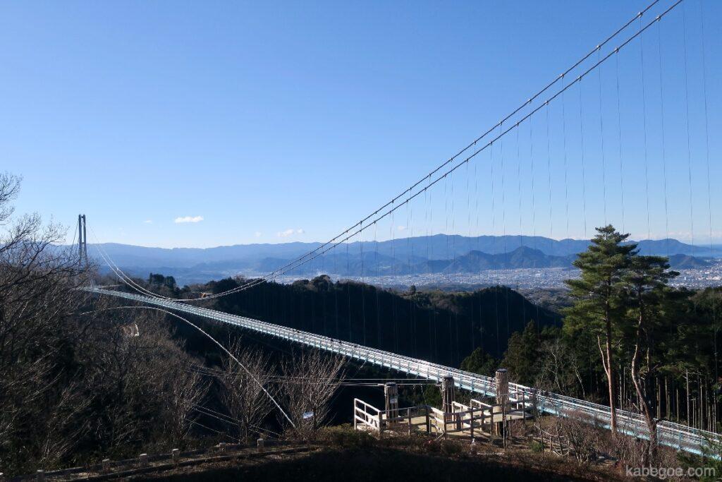 Pemandangan Mishima Skywalk yang luar biasa