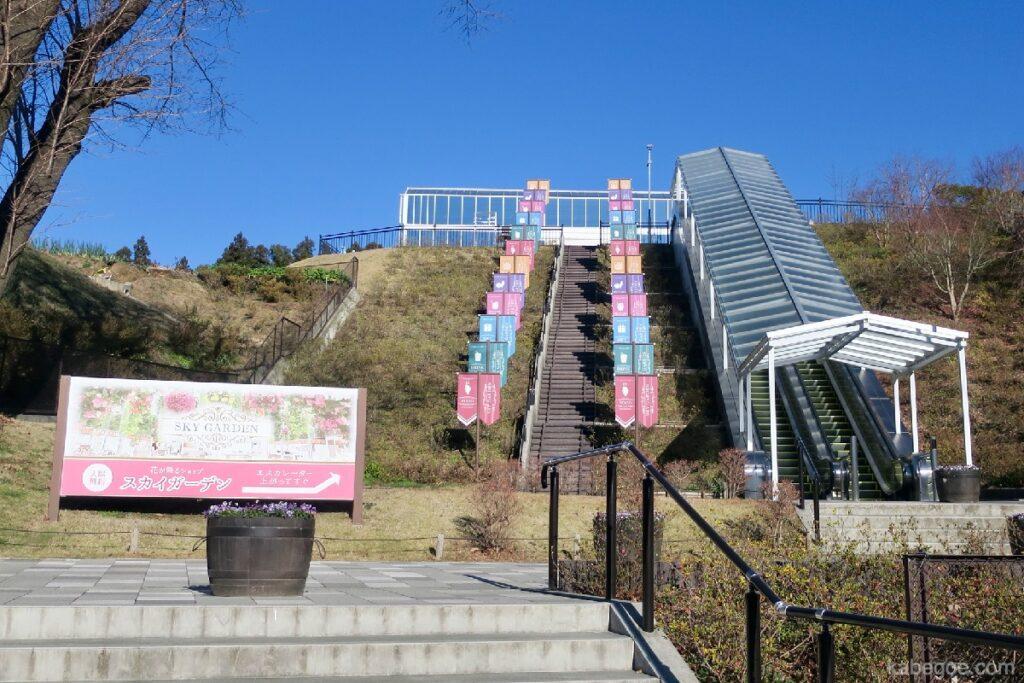 Pintu masuk ke Sky Garden di Mishima Skywalk