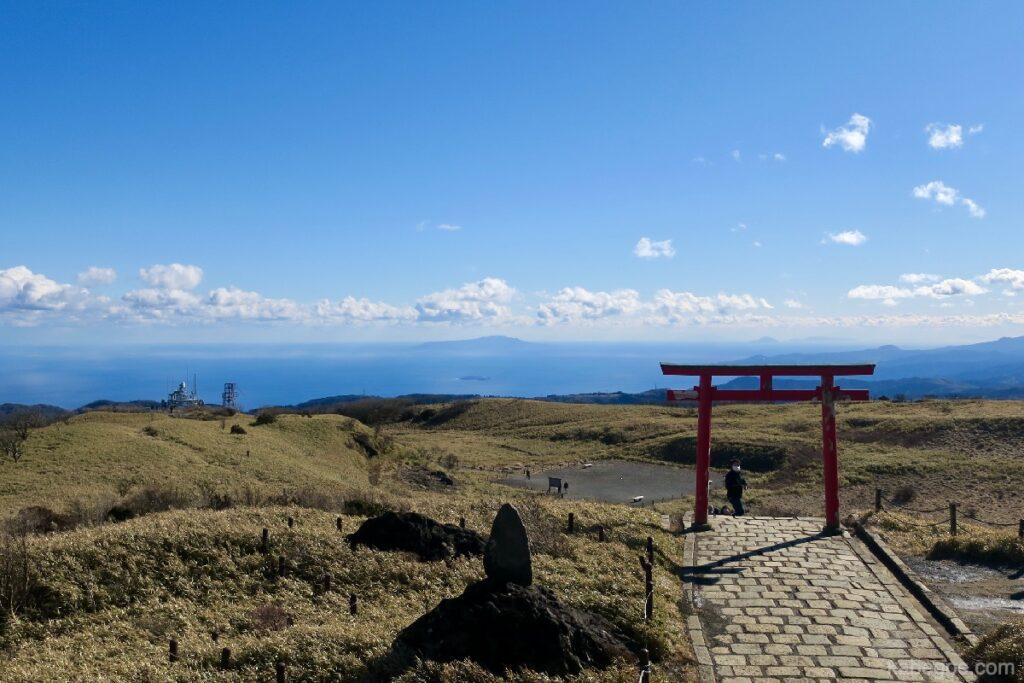 駒ヶ岳ロープウェーの頂上の箱根元宮