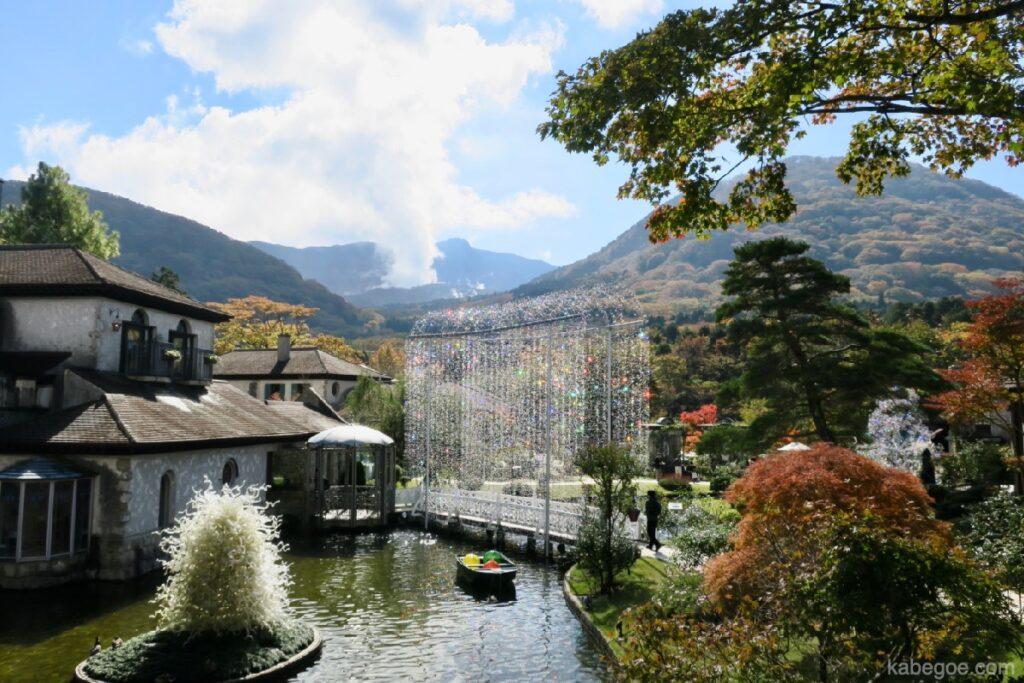 Scenario del Museo della foresta di vetro di Hakone