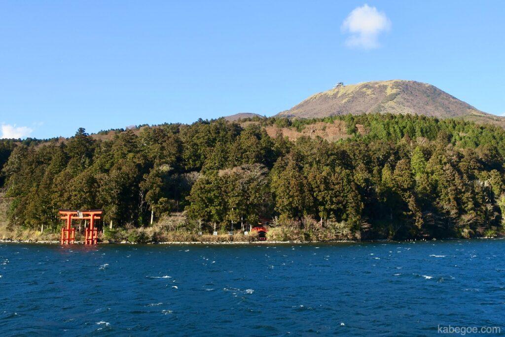 Torii dari Kuil Hakone dan Kereta Gantung Hakonekomagatake
