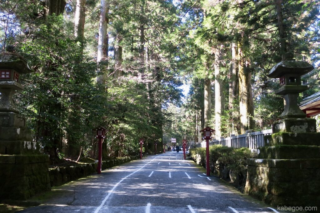 Pendekatan ke Kuil Hakone