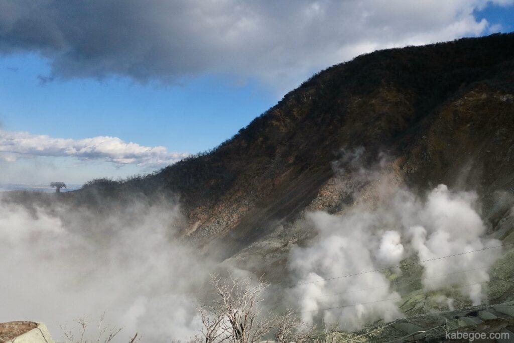 Gas vulkanik di Owakudani