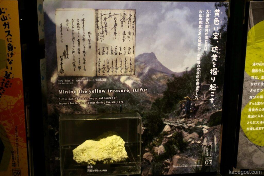 Di dalam Museum Hakone Geo di Owakudani