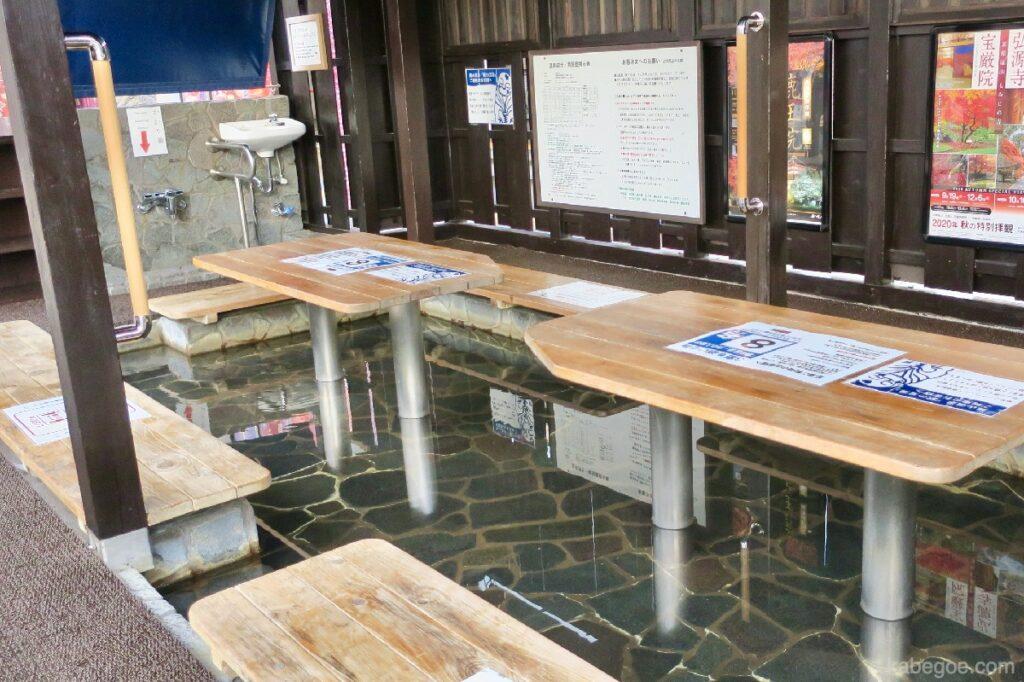 Pediluvio alla stazione di Arashiyama