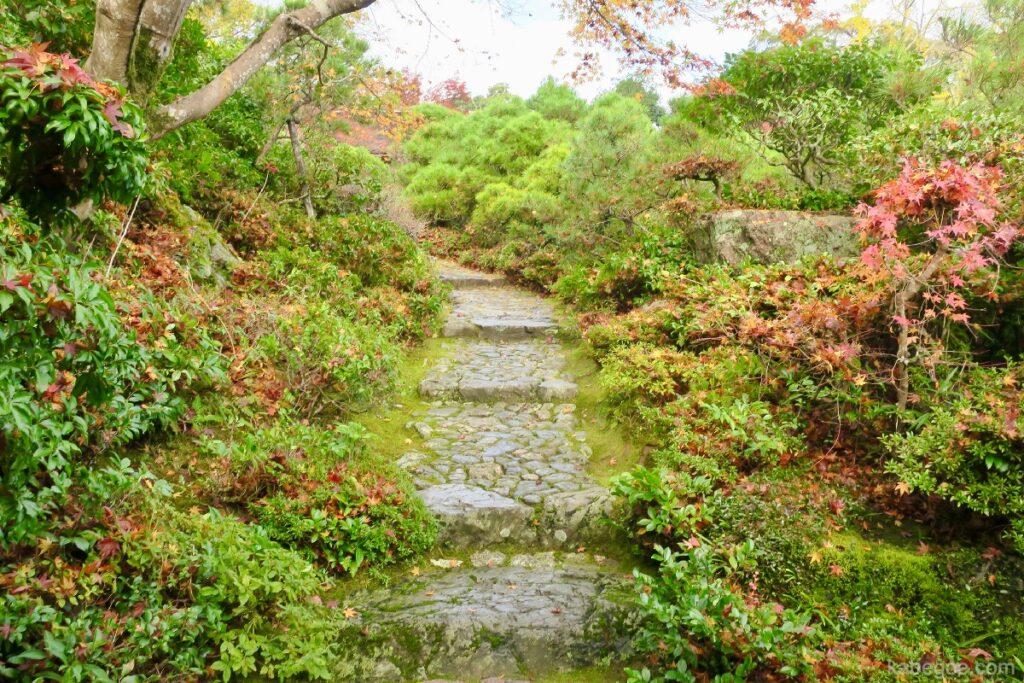 大河内山荘庭園の石段