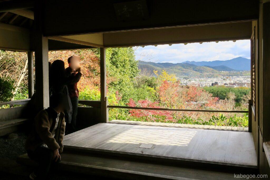 大河内山荘庭園の月香亭からの景色