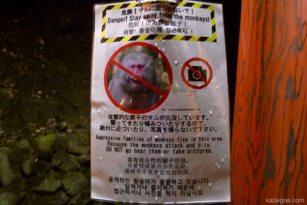 Fushimi Inari Taisha scimmia