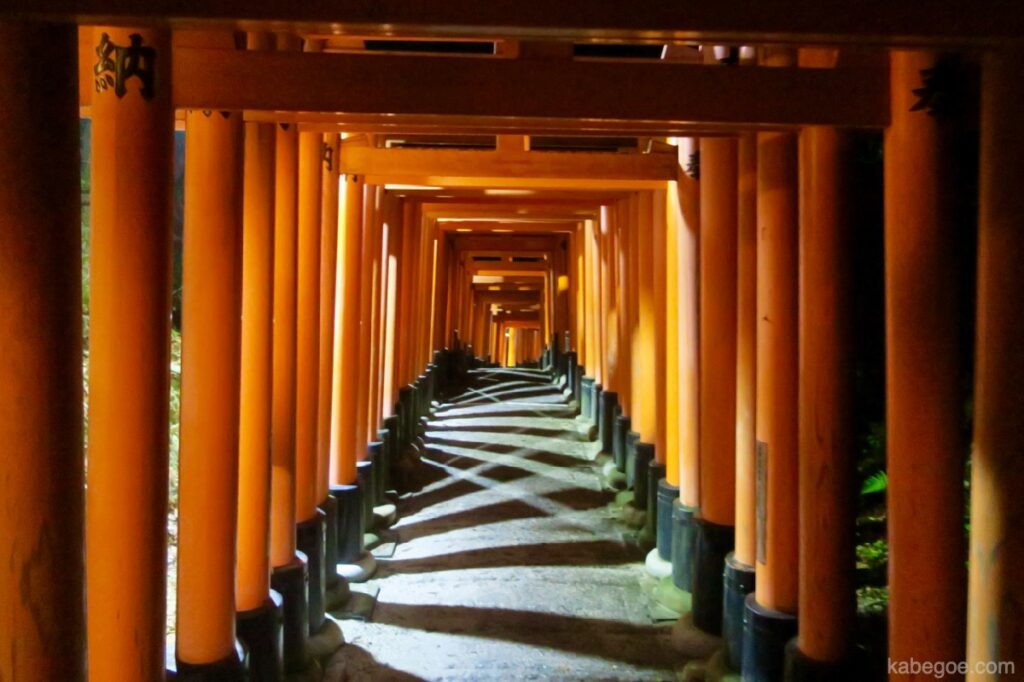 Illuminazione del Santuario Fushimi Inari Taisha