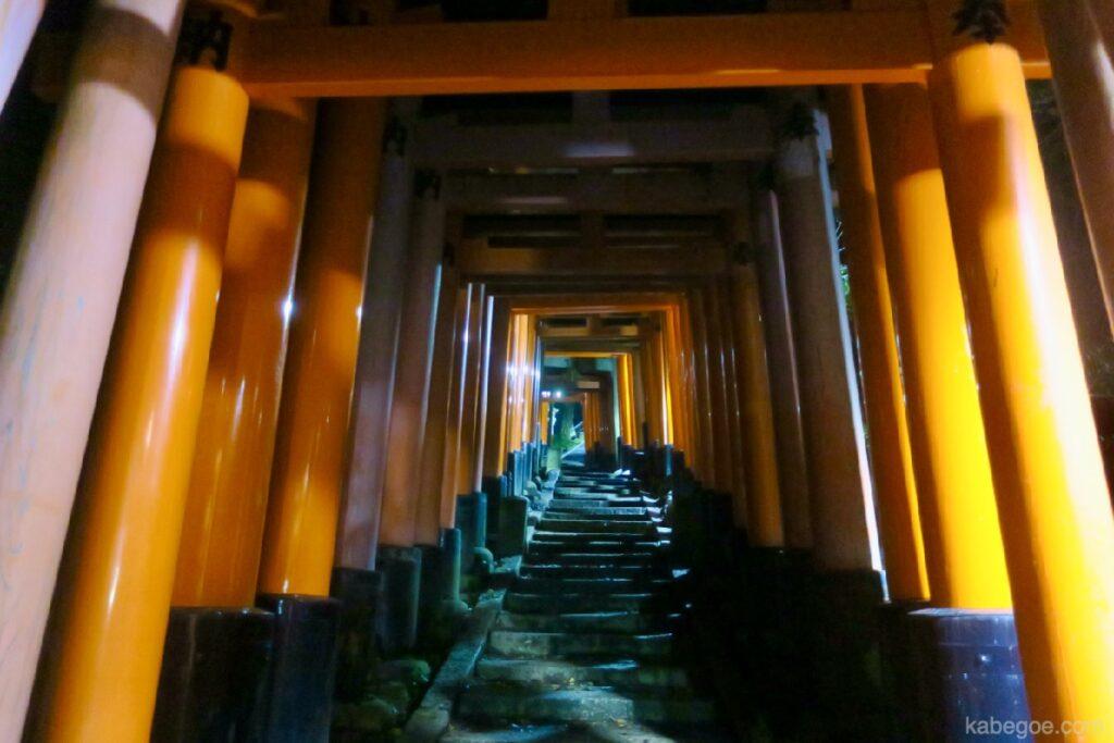 Gradini in pietra del Santuario Fushimi Inari Taisha