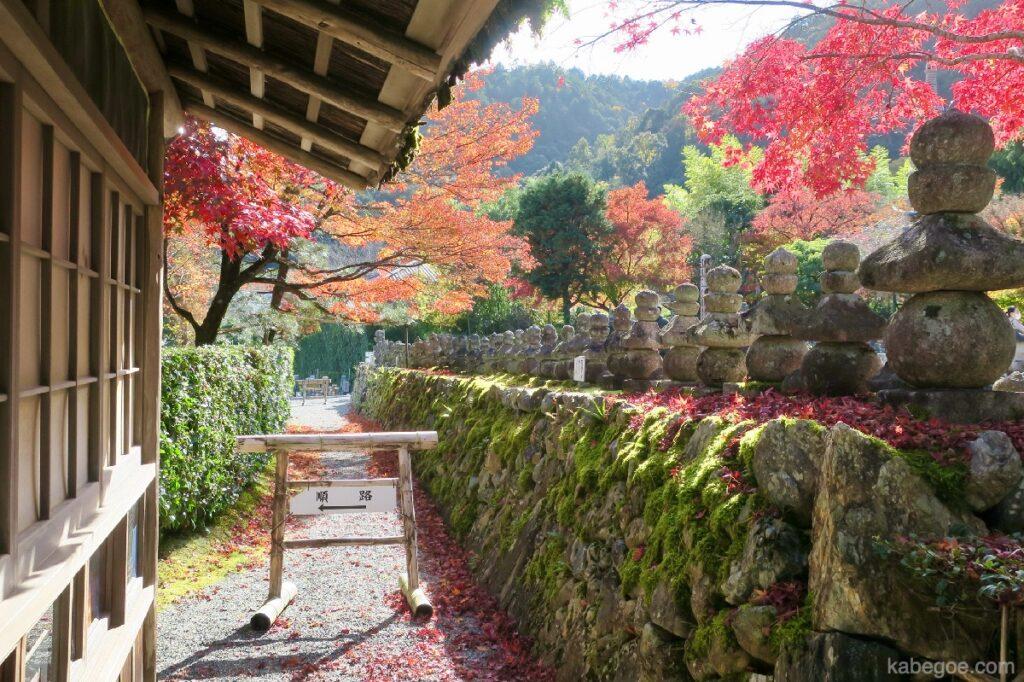 Rute Kuil Adashino Nenbutsuji