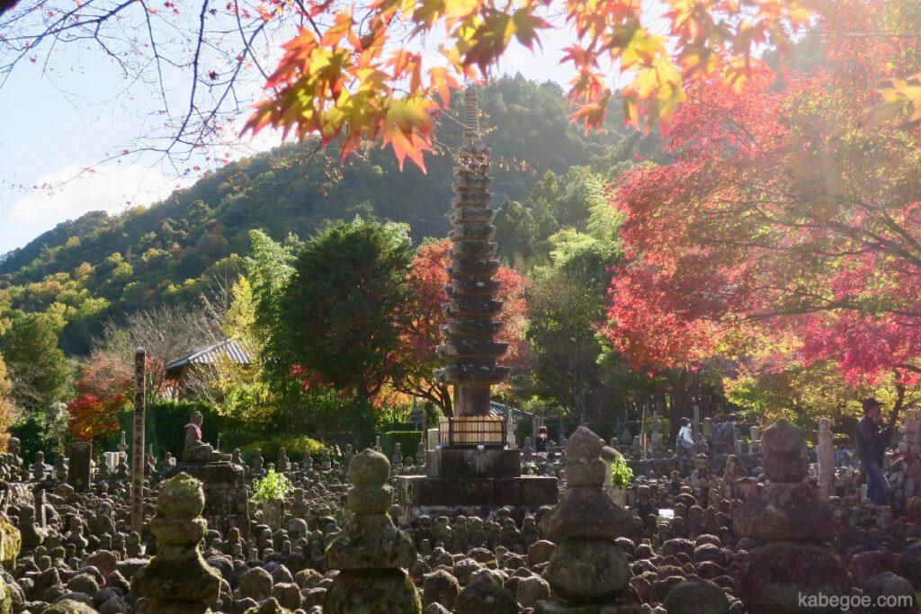 Pagoda batu Kuil Adashino Nenbutsuji