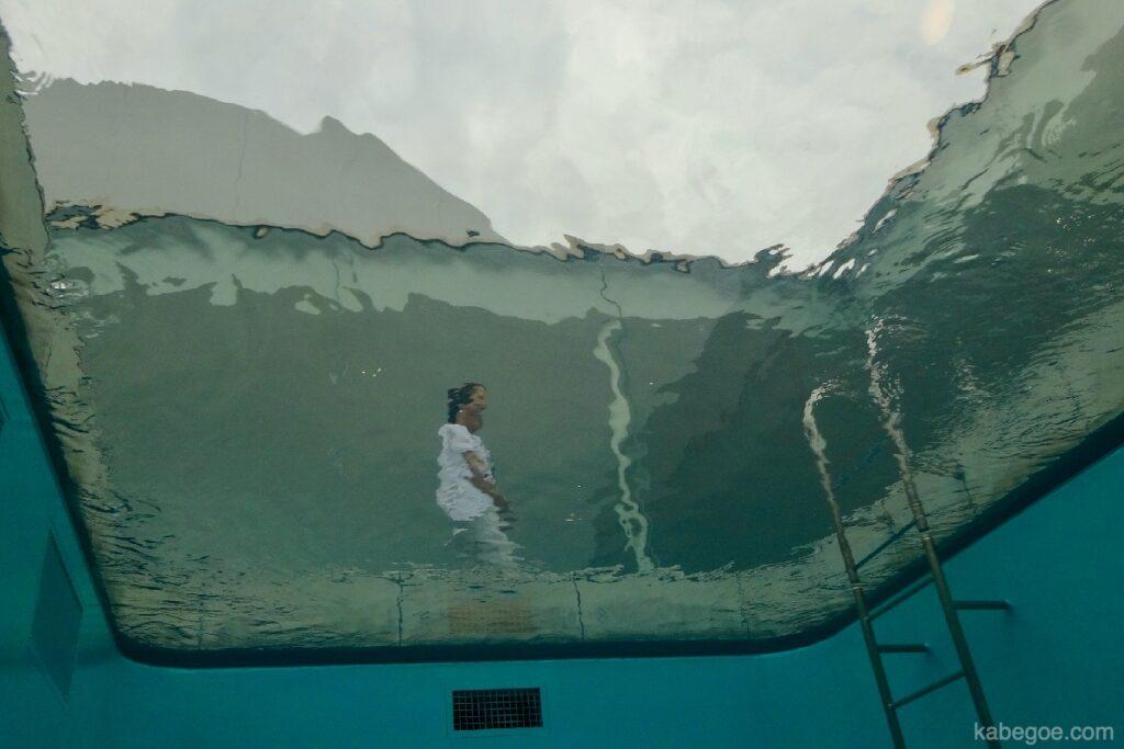 """21 -р зууны орчин үеийн урлагийн музейн """"усан сан"""", Каназава доороос"""