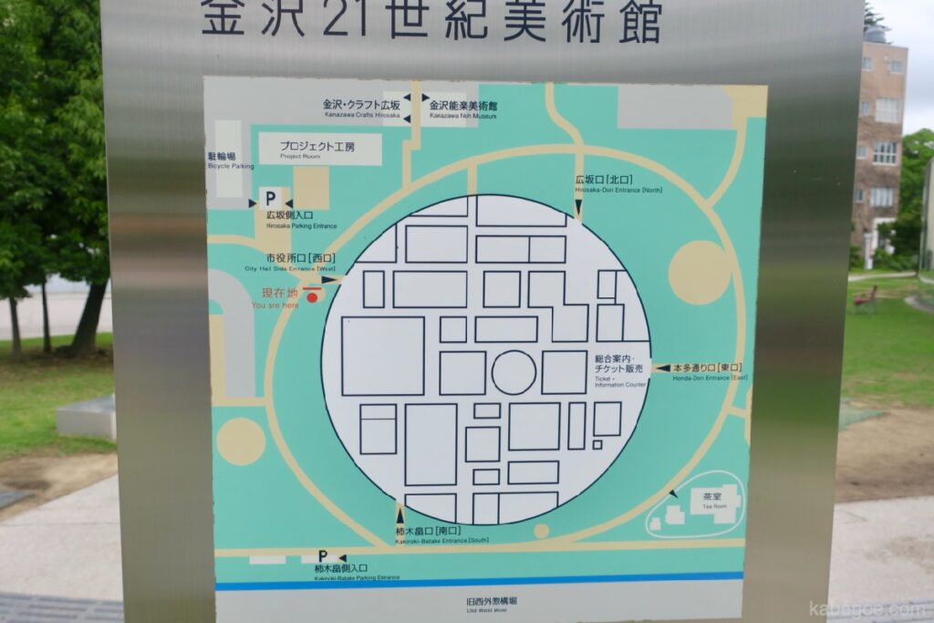 21 -р зууны орчин үеийн урлагийн музейн газрын зураг, Каназава